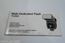 Tz250 Multi-Dedicated Flash manual instructions gebrauchsanweisung mode d'emploi