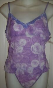 NWT Purple Flower Camisole and Panty L
