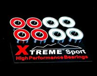 627 RS [7mm] ABEC 9 Xtreme SWISS Red & White HIGH PERFORMANCE SKATE BEARINGS