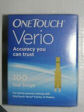 100 One Touch VERIO Test Strips Exp 06/30/2021 Unopened 2 vials of 50