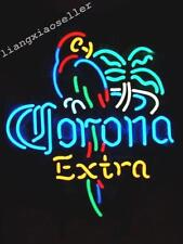 New CORONA EXTRA PARROT PALM TREE LOGO BEER BAR REAL NEON LIGHT SIGN Free Ship