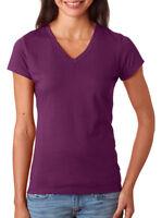 Fruit of The Loom Women's Soft Lightweight 100% Cotton V Neck T-Shirt. SFJV