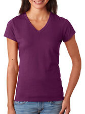 Fruit of The Loom Women's Soft Lightweight 100% Cotton V Neck T-Shirt. SFJV