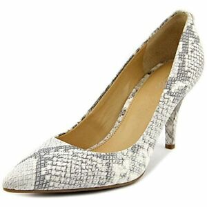 New ($128) Michael Kors MK Flex Mid Pump Embossed Leather Natural Heels 7-11