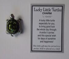 c LUCKY LITTLE TURTLE CHARM pocket token Good luck figurine wish pendant ganz