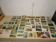 Vintage LOT of 71 LINEN 1930's thru 1970's POST CARDS VARIOUS  MOST MICHIGAN