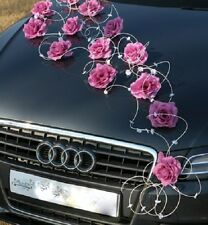 wedding car decoration ribbon  bows prom limousine decoration LAURA ruby