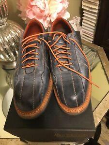 Allen Edmonds Voyager Mens 7 D Oxford Walking Shoe Blue Orange