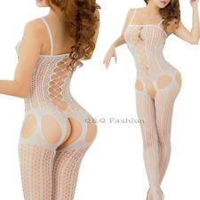 Cross Strap Pole Dancer Fishnet Bodysuit Stocking Waistcoat Lingerie Pornography
