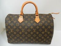 Auth Louis Vuitton Monogram Speedy 35 Hand Bag SP0995 Browns Pre-Owned