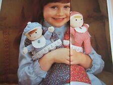 Vintage SEWING PATTERN Jean Greenhowe BABY BUNTING DOLLS Rag Doll  TOY