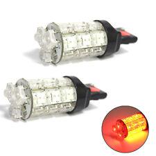 Flujo LED Rojo 2x 18 7440 T20 coche freno de parada Wedge 12 V Bombillas De Luz