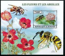 Burundi 2013 MNH 1v MS, Flowers, German wasp, Insects
