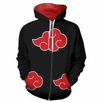 88ae2e2b3f11 Naruto0 Akatsuki Cosplay Sweatshirt Hoodies Anime Zipper Long sleeve Jacket