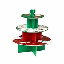 Premier Housewares 35.5 Dx38cm 3 Tier Cake Stand Christmas Characters Cardbrd