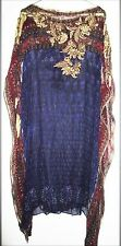 Tarun Tahiliani Indian Bollywood Designer Multicolor Embroidered Women Dress XXL