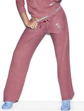 NWT Victoria's Secret Pink Soft Begonia Boyfriend Fit Pants Graphic Logo XS New