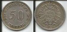 GERMANIA 50 PFENNIG 1876 A GUGLIELMO I
