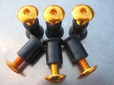Screen Bolt Kit,gold anodised alu, 6 bolts, for Yamaha FZ1 1000  Fazer
