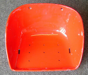 BUCKET TYPE SEAT PAN IN RED; FOR MASSEY FERGUSON TRACTORS (various, see listing)