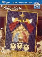Holy Night ~  plastic canvas pattern  ~  Christmas pattern