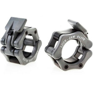 Lock-Jaw Elite (Silver) Barbell Collars Cross Training Olympic Weightlifting