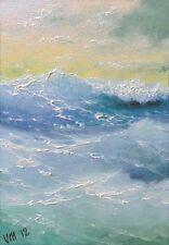 Mesheryakov ORIGINAL OIL PAINTING Modern SEASCAPE Nautical Bracing Waves OCEAN