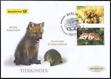 BRD 2014: Tierkinder! Post-FDC der Nr 3047+3048 mit Berliner Sonderstempel! 1702