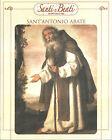 STAMPA SU CARTONCINO IMMAGINE SACRA - SANT'ANTONIO ABATE - CM. 19x24