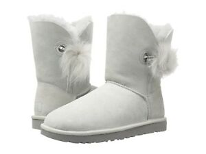 NEW Authentic UGG Women's Irina Crystal Pin Pom Pom Boots Shoes Black Pink Grey