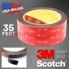 Genuine 3M VHB #5952 Double-Sided Mounting Foam Tape Automotive Car 40mm x 35FT