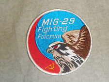MIG-29 Fighting Fulcrum applique patch Military falcon jet USAF USSR embroidered