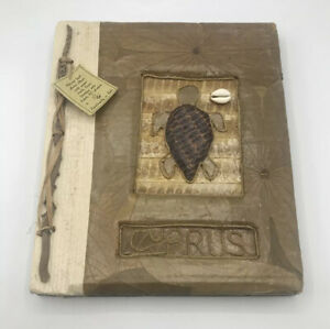 Vintage All Natural Leaf Handmade Photo Album Made in Bali Indonesia
