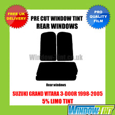 SUZUKI GRAND VITARA 3-DOOR 1998-2005 5% LIMO REAR PRE CUT WINDOW TINT