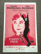 Funny Face Audrey Hepburn Fred Astaire Original Pink Movie Poster 1957