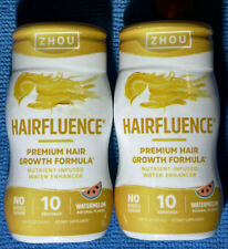 Lot of 2 Zhou Hairfluence Nutrient-Infused Water Enhancer Watermelon Hair Growth