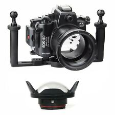 Seafrogs 40M Underwater Camera Housing for Canon 5D Mark III IV+ Dome Port +Tray