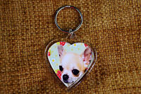 Chihuahua Smooth Haired Gift Keyring Dog Key Ring Birthday Gift Mothers Day Gift