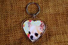 Chihuahua Gift Keyring Dog Key Ring heart shaped gift Birthday Gift