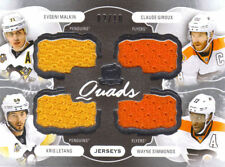 2016-17 UD THE CUP QUADS JERSEYS MALKIN/LETANG-GIROUIX/SIMMONS 02/10 C4-PEN