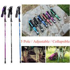 Camping Mountaining Collapsible Walking Sticks Alpenstocks Anti Shock Caps 16Pcs
