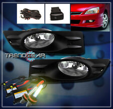 2006-2007 HONDA ACCORD COUPE 2DR BUMPER DRIVING CHROME FOG LIGHTS LAMPS W/3K HID