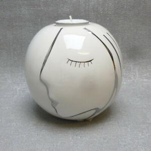 Casablanca  Teelichthalter Face Kugel Gesicht Geschenk Kerze edel modern