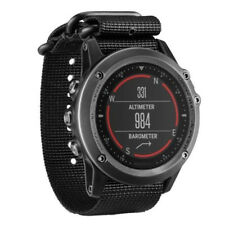 For Garmin Fenix 3 /HR Nylon Strap Wrist Watch Band Black C9L5
