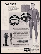 1966 Dacor ACW diving watch photo scuba mask knife photo vintage print ad