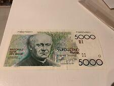 Billet-de-banque-de-5000-Francs-Belge-Etat-neuf