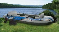 INTEX Excursion 5 Inflatable Rafting/Fishing Dinghy Boat Set (Used)    (4 Pack)