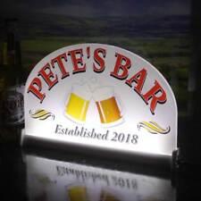 """Large LED Bar Sign, Personalised Illuminated Pub Sign, Light up Bar Sign 16""""x10"""""""