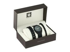 Anne Klein Watch * 1956BKST Black Resin Bracelet Gift Set for Women COD PayPal