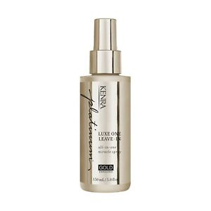 Kenra Platinum Luxe One Leave-In Spray 5.0 oz / 150 ml gold for opulent slip